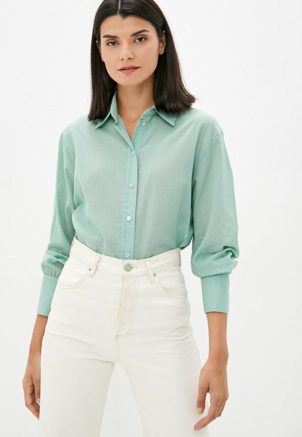 женская блузка с длинным рукавом concept club, бирюзовая