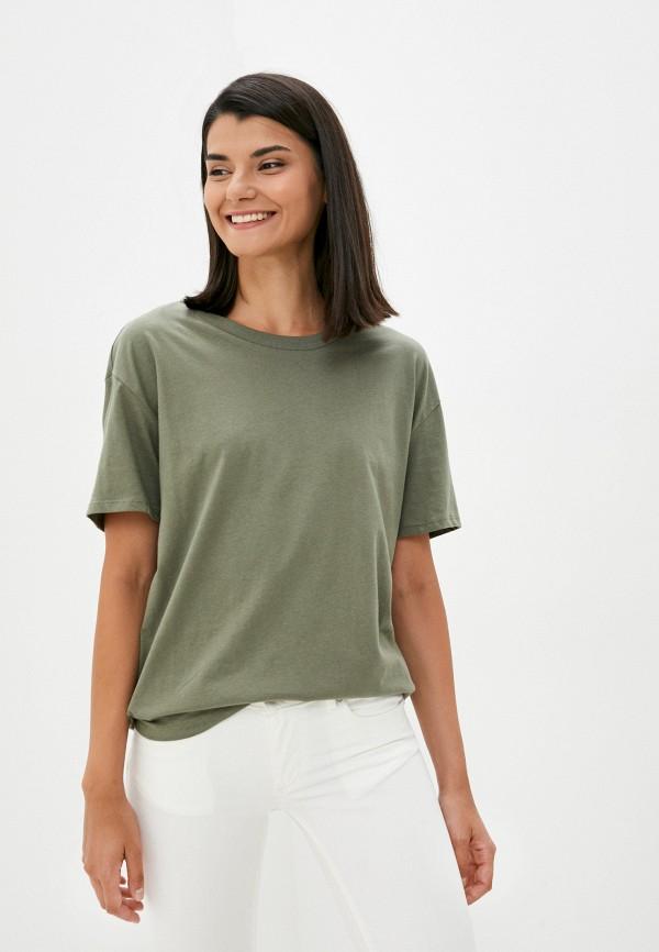 женская футболка concept club, хаки
