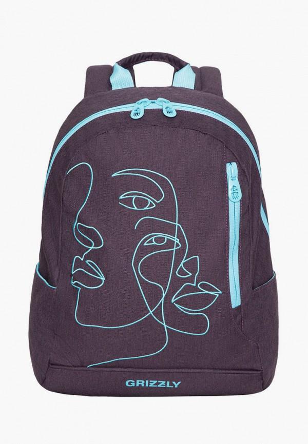 женский рюкзак grizzly, коричневый