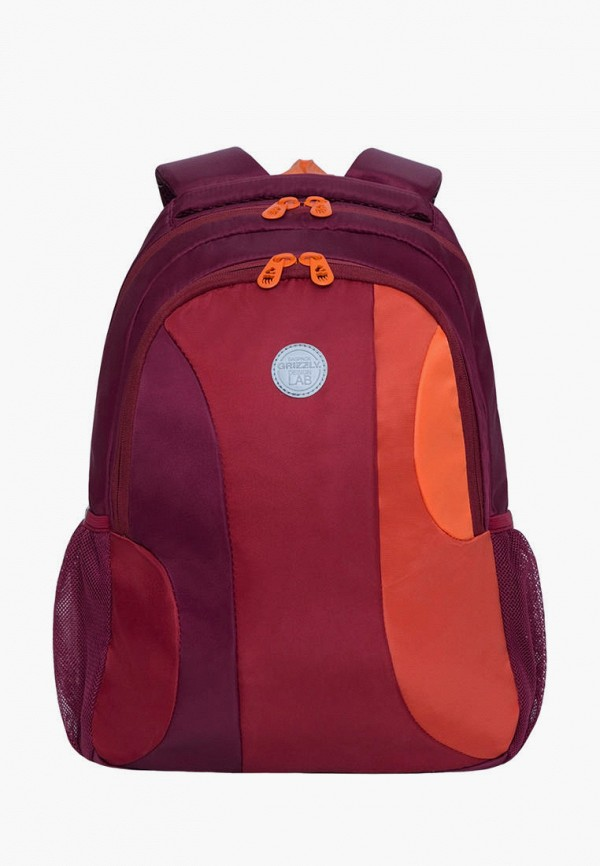 женский рюкзак grizzly, бордовый