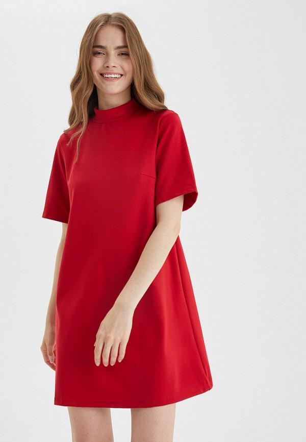 женское повседневные платье barmariska, красное