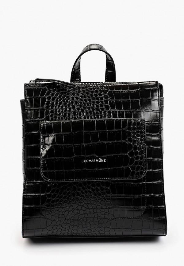 женский рюкзак thomas munz, черный