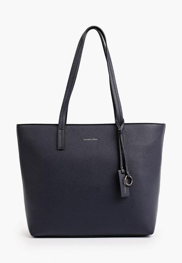 женская сумка с ручками thomas munz, синяя