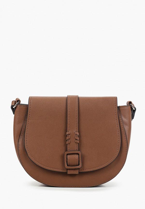женская сумка через плечо thomas munz, коричневая
