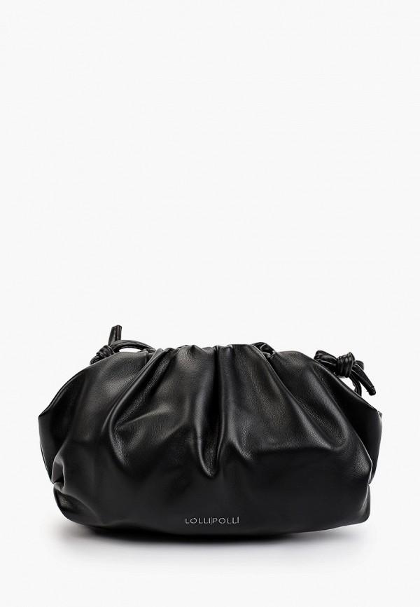 женская сумка через плечо lolli l polli, черная