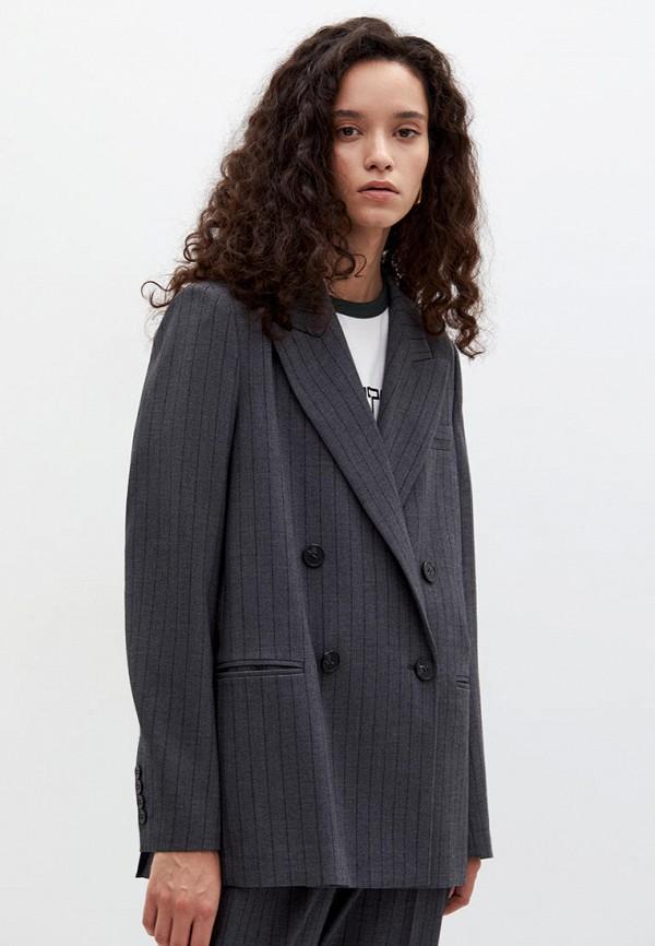 женский пиджак lime, серый