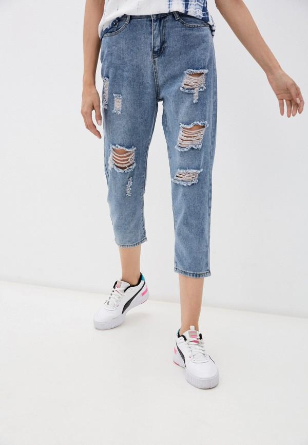 женские джинсы бойфренд balloon, голубые