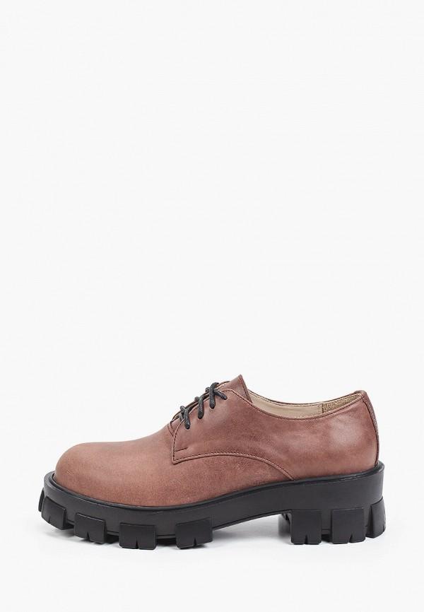 женские ботинки-оксфорды pauli, коричневые