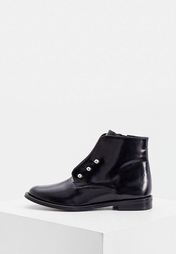 женские высокие ботинки jonak, черные