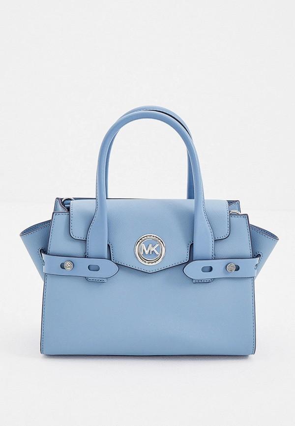 женская сумка с ручками michael kors, голубая