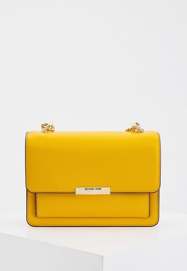женская сумка с ручками michael kors, желтая