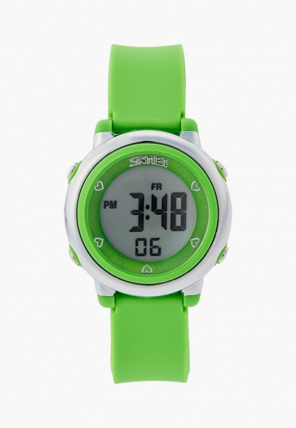 женские часы skmei, зеленые