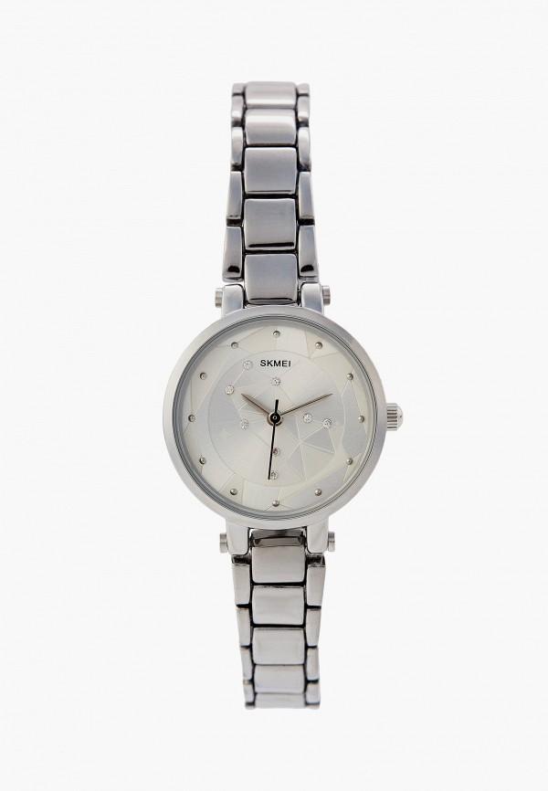 женские часы skmei, серебряные