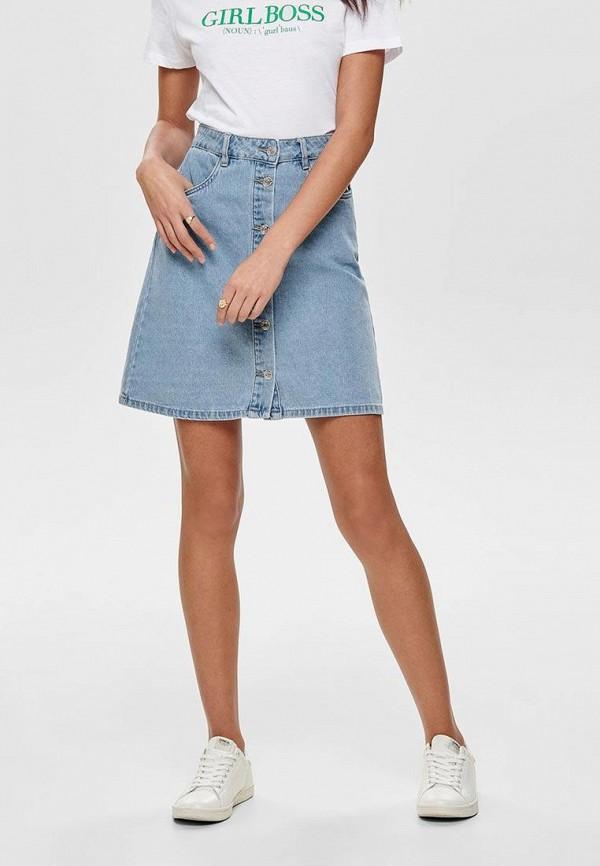 женская джинсовые юбка only, синяя