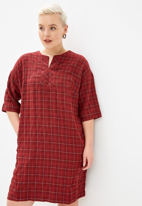 женское повседневные платье horosha, красное