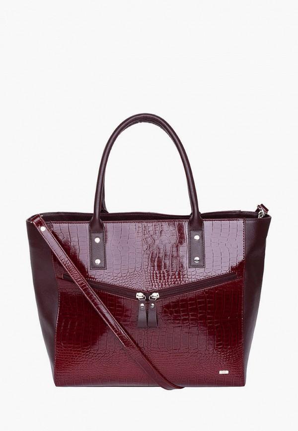 женская сумка-шоперы esse, бордовая