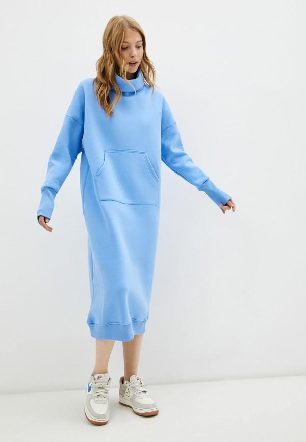 женское платье-толстовки baon, голубое