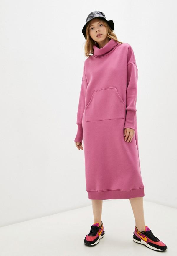 женское платье-толстовки baon, розовое