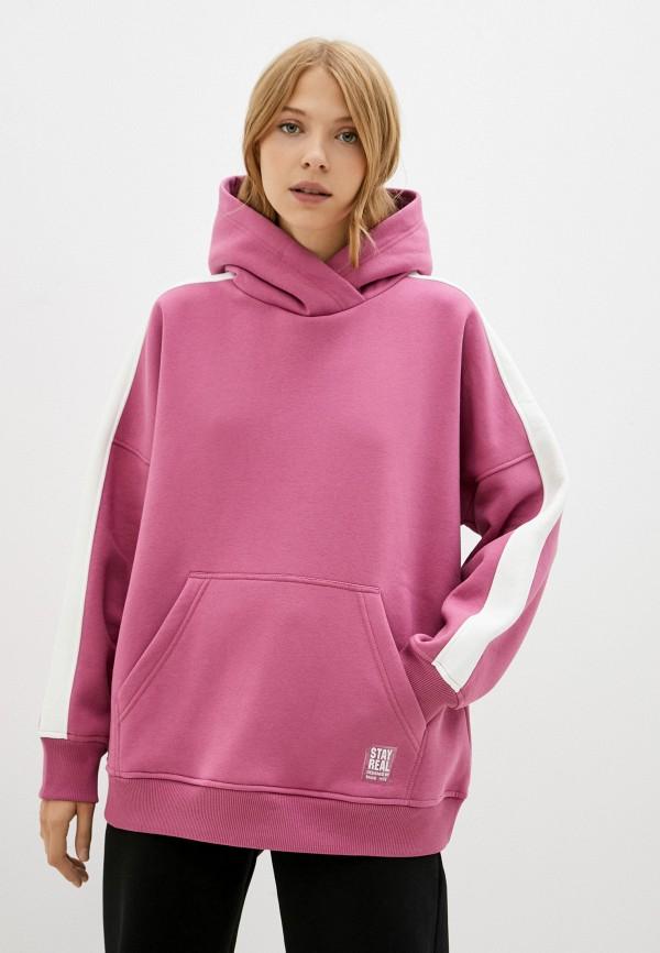 женские худи baon, розовые