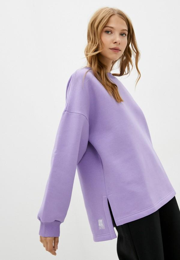 женский свитшот baon, фиолетовый