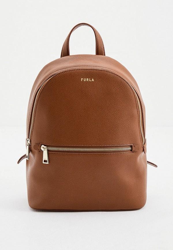 женский рюкзак furla, коричневый