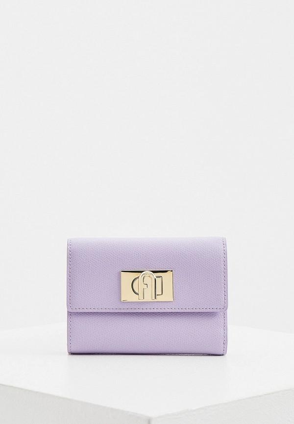 женский кошелёк furla, фиолетовый
