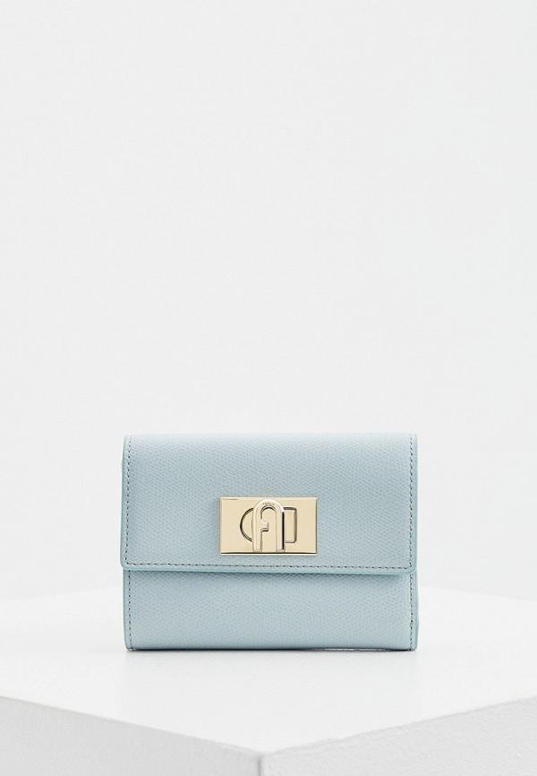 женский кошелёк furla, бирюзовый