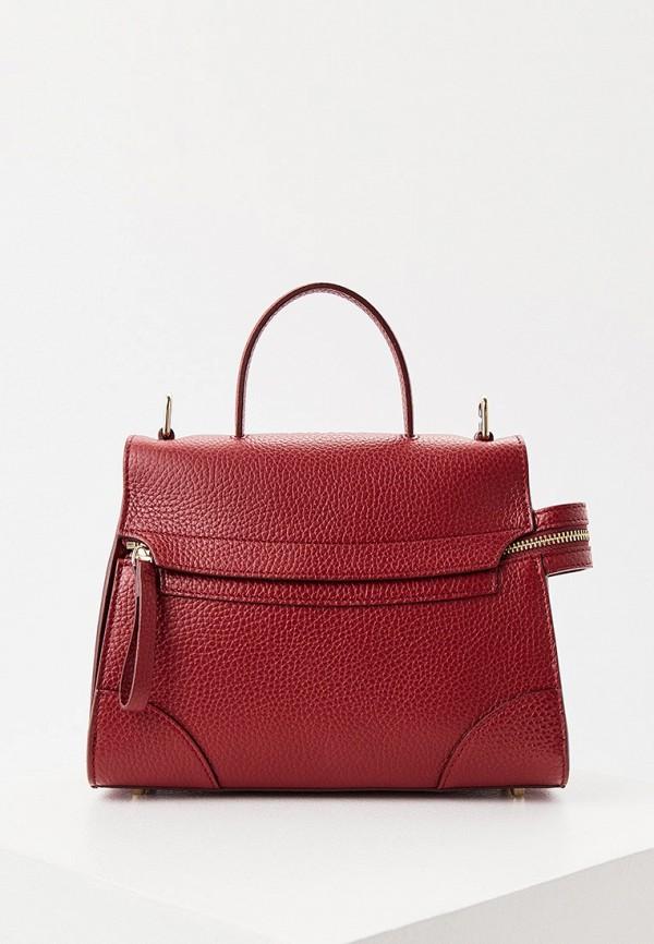 женская сумка с ручками furla, бордовая