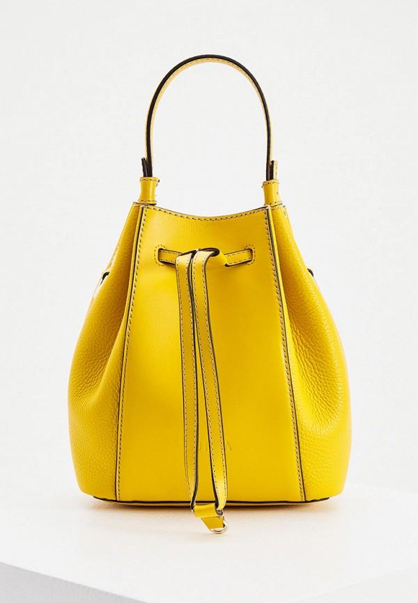 женская сумка-ведро furla, желтая