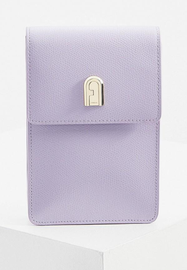 женская сумка через плечо furla, фиолетовая