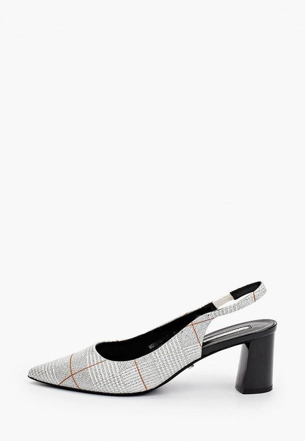 женские туфли inario, серебряные