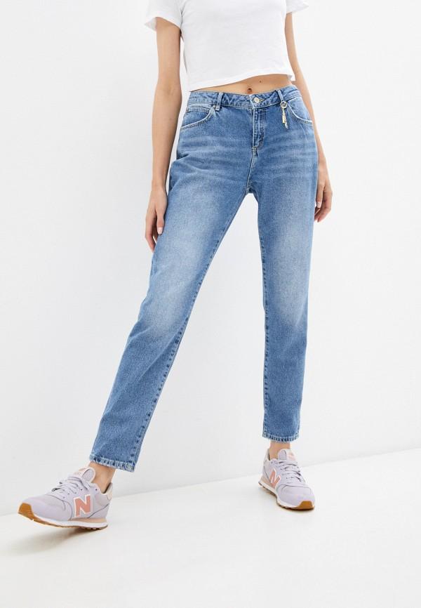 женские джинсы бойфренд colin's, синие