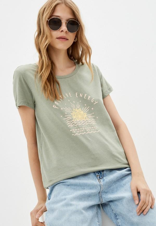 женская футболка colin's, хаки