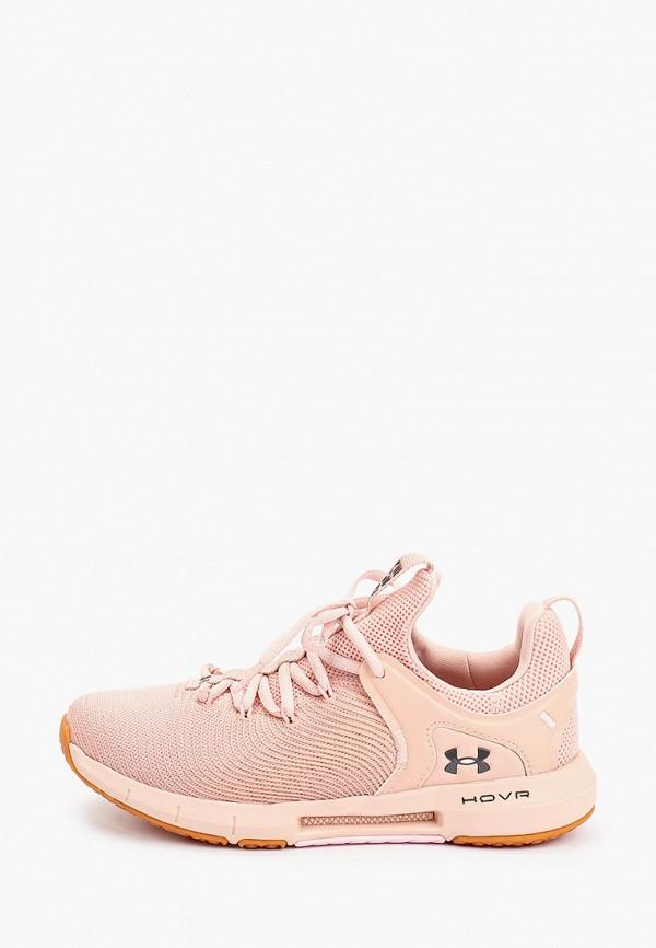 женские низкие кроссовки under armour, розовые