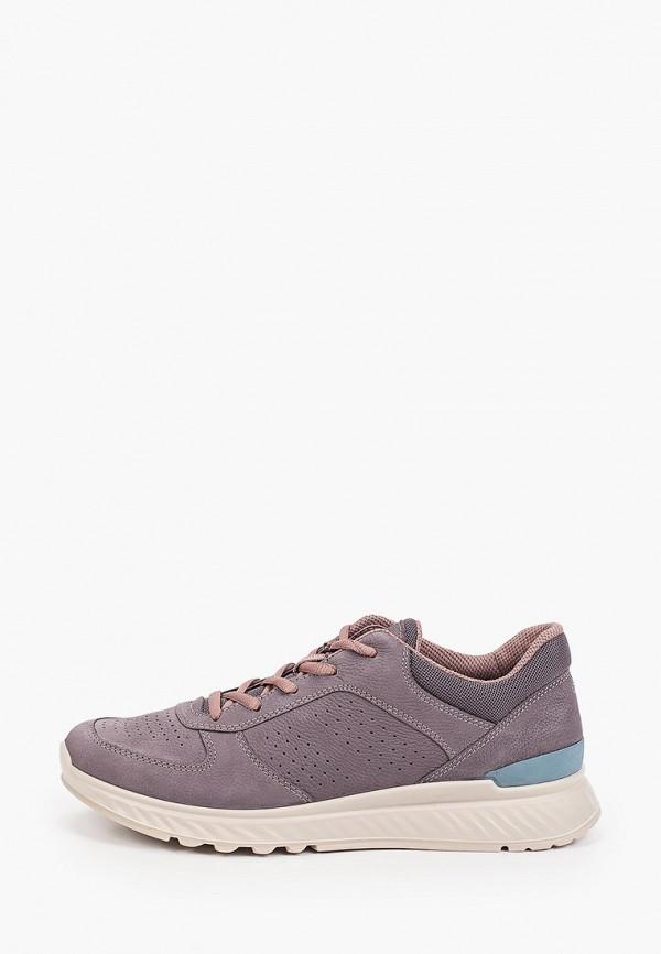 женские низкие кроссовки ecco, фиолетовые