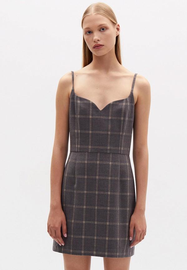 женское повседневные платье lime, серое
