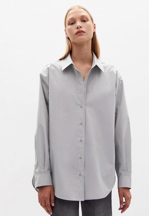 женская рубашка с длинным рукавом lime, серая