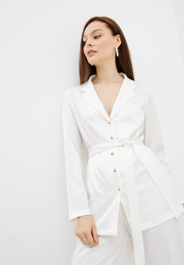 женская блузка с длинным рукавом lorani, белая