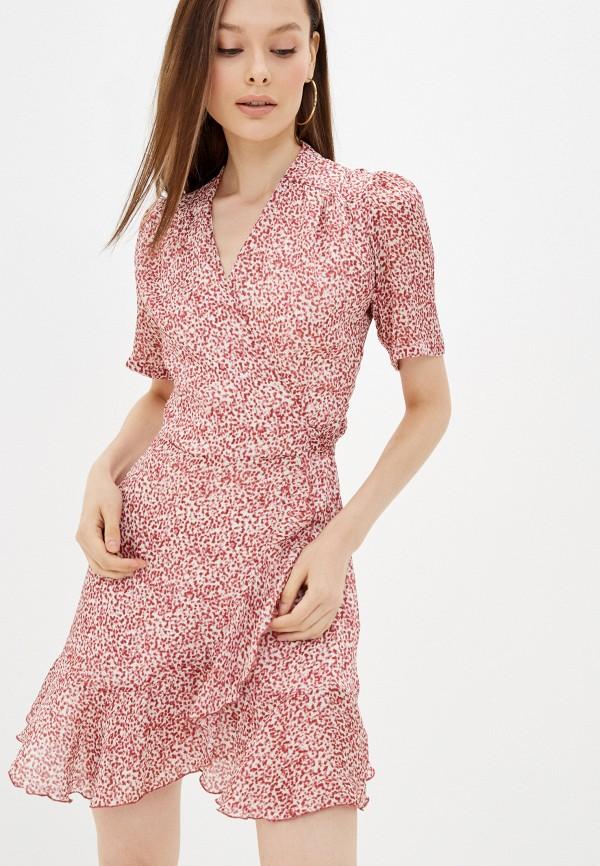 женское платье с запахом lorani, красное