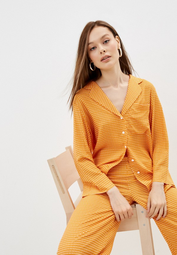 женская блузка с длинным рукавом lorani, оранжевая