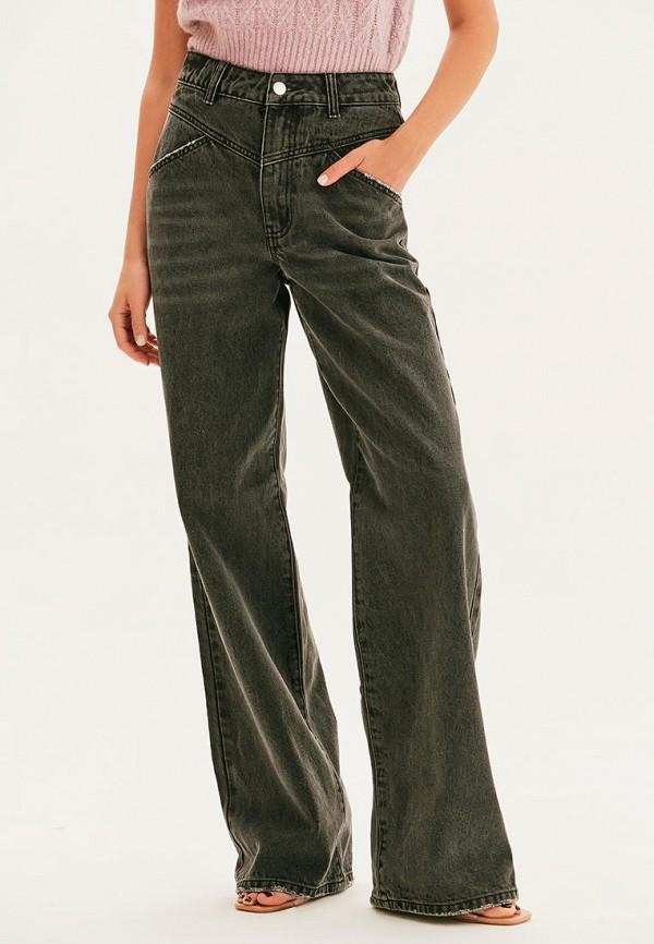 женские джинсы клеш love republic, серые