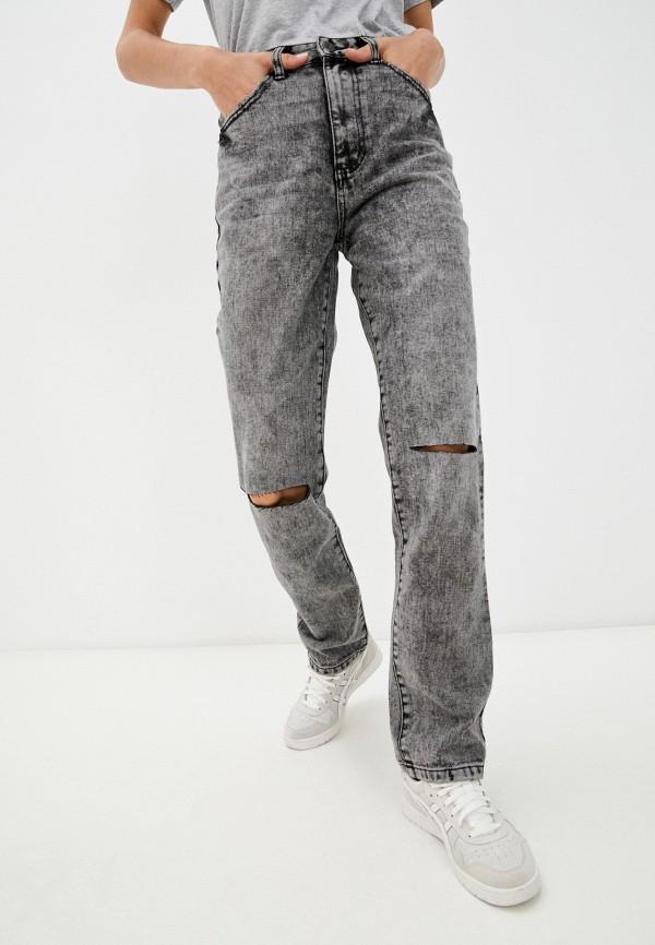 женские прямые джинсы befree, серые