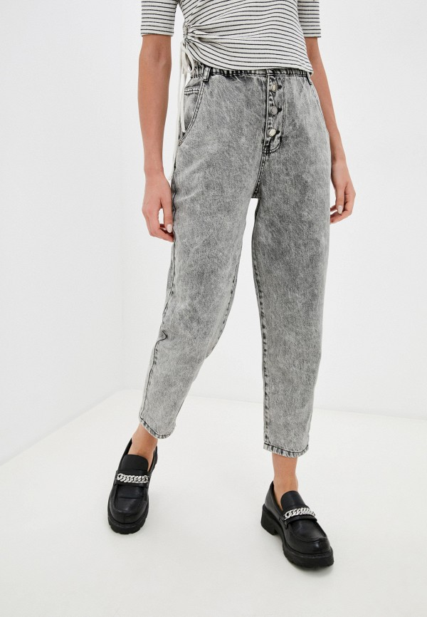 женские джинсы-мом befree, серые