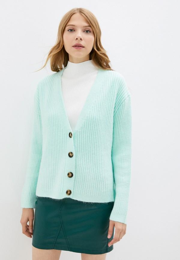 женский кардиган euros style, зеленый