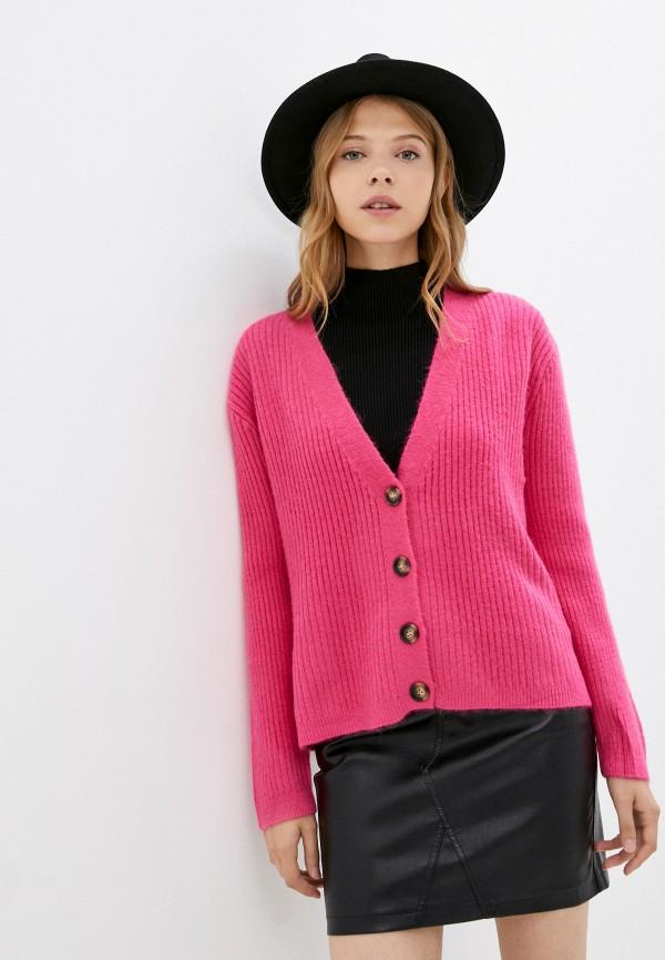 женский кардиган euros style, розовый