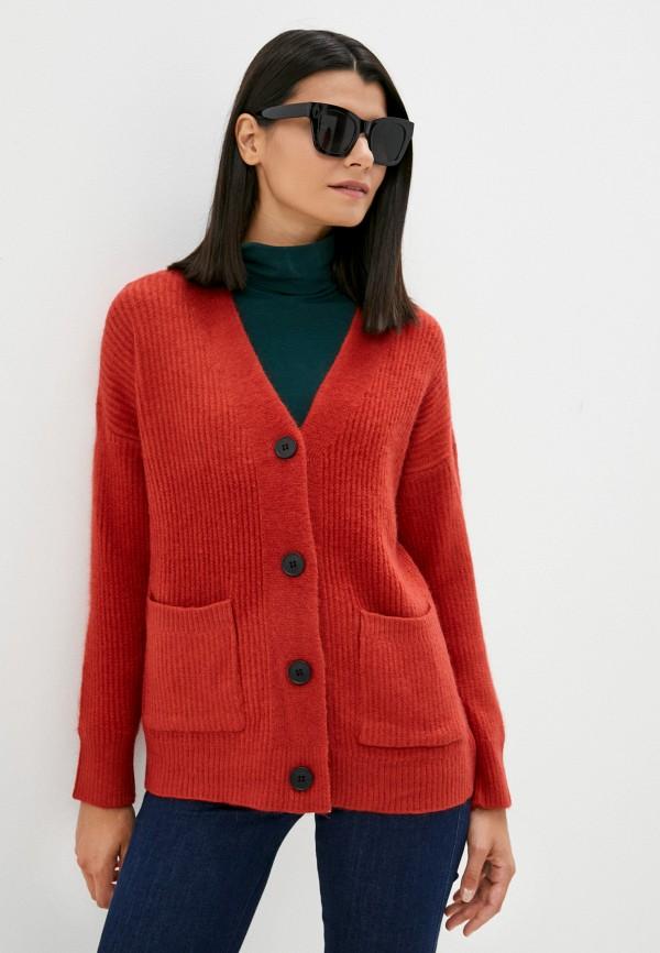 женский кардиган euros style, красный