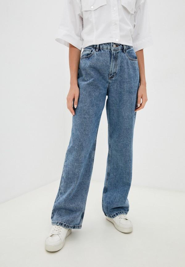 женские прямые джинсы o'stin, голубые
