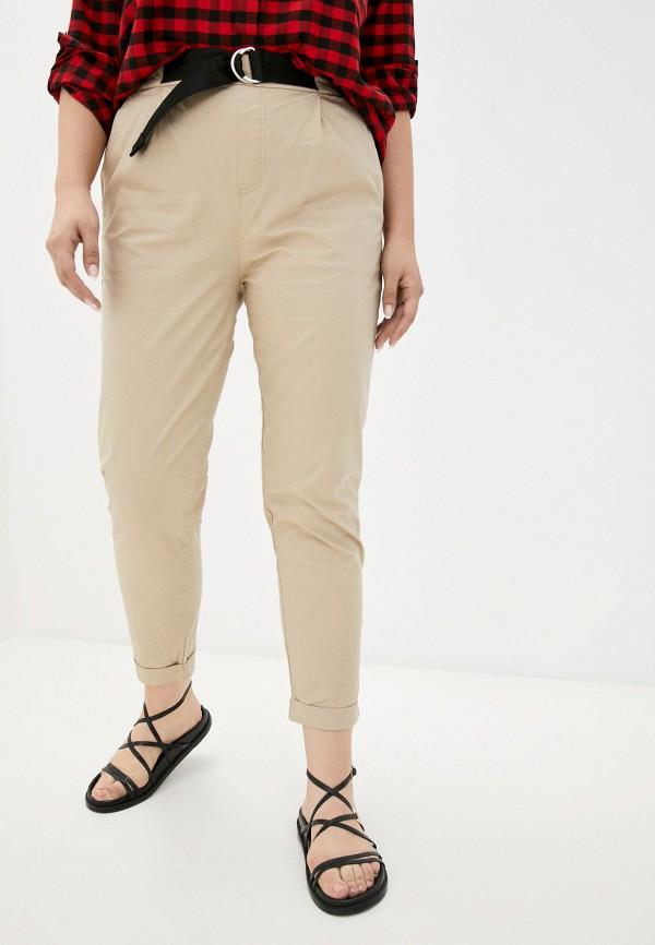 женские повседневные брюки o'stin, бежевые