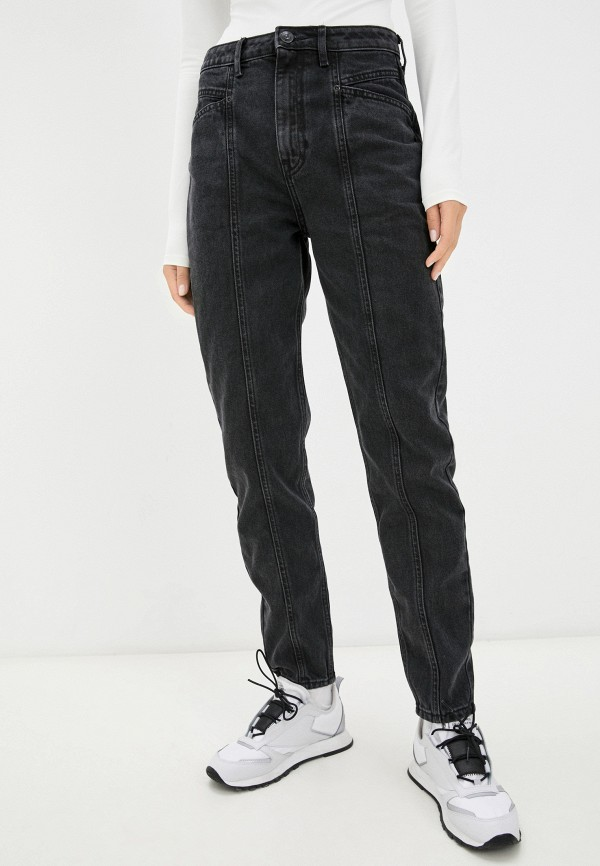 женские джинсы-мом o'stin, серые