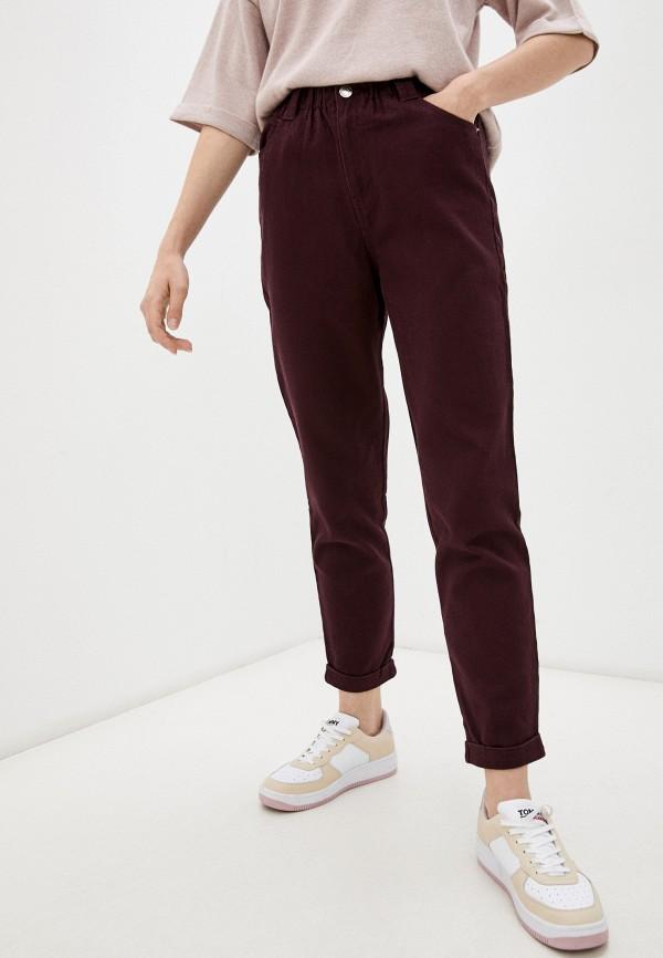 женские повседневные брюки o'stin, бордовые